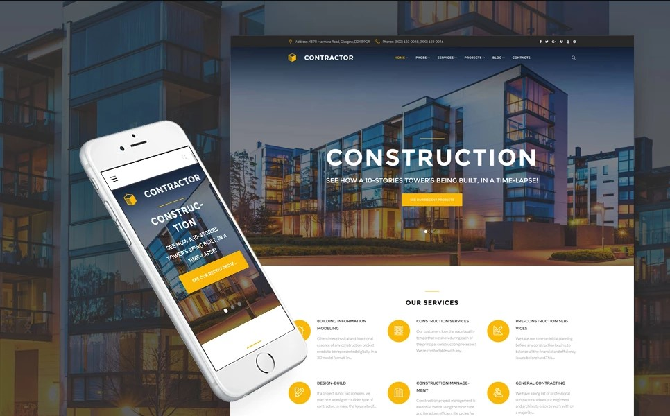 Contractor - Architecture & Construction Company WordPress Theme