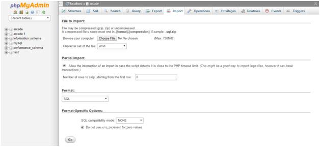 Migrate WordPress Site - phpMyAdmin Import