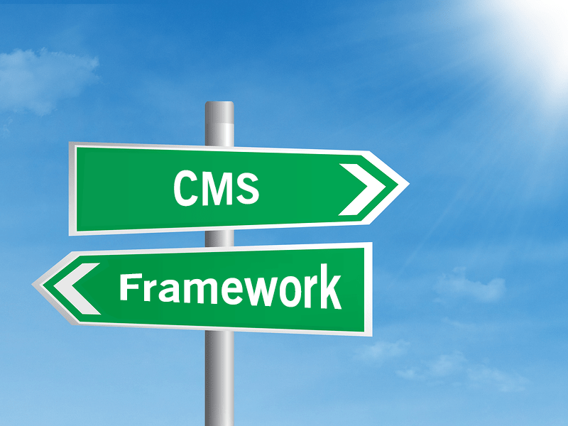 CMS or Framework - Which is More Efficient for a Startup   Theme Vision