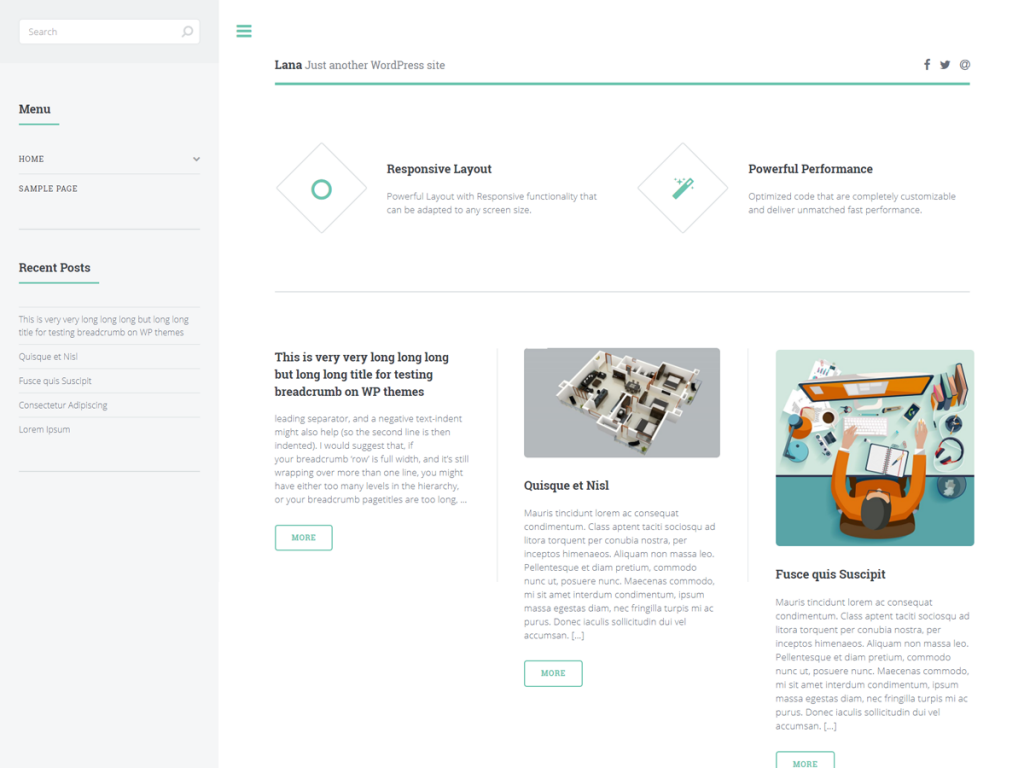 Lana WordPress Theme | Theme Vision