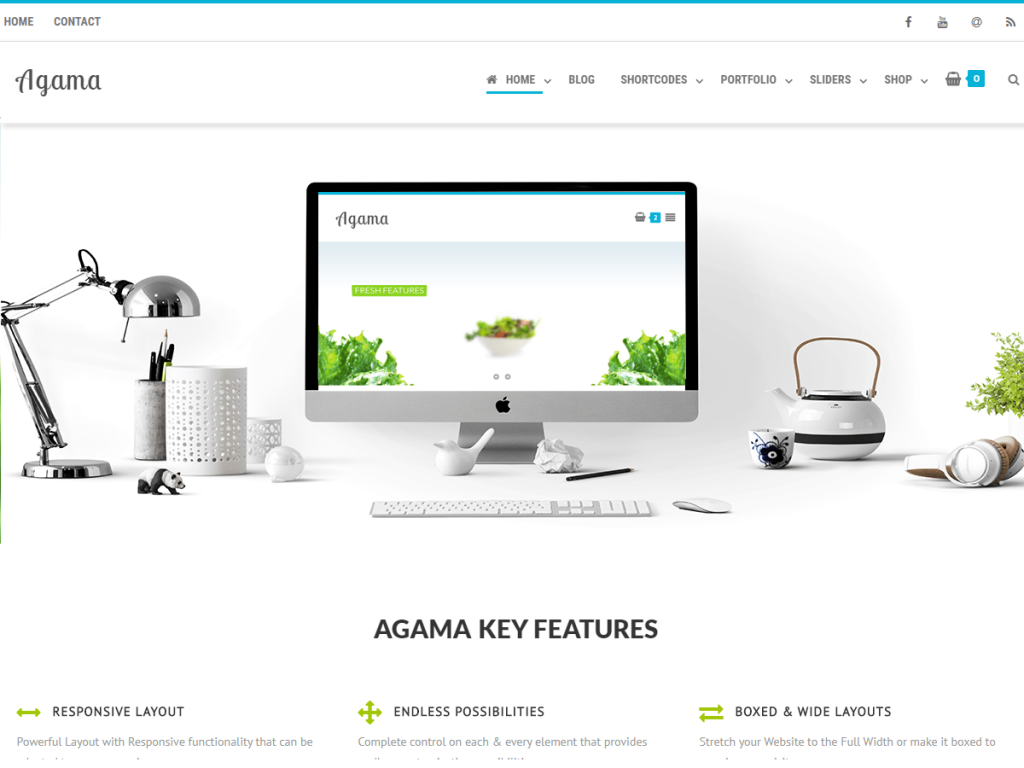 Agama Free WordPress Theme